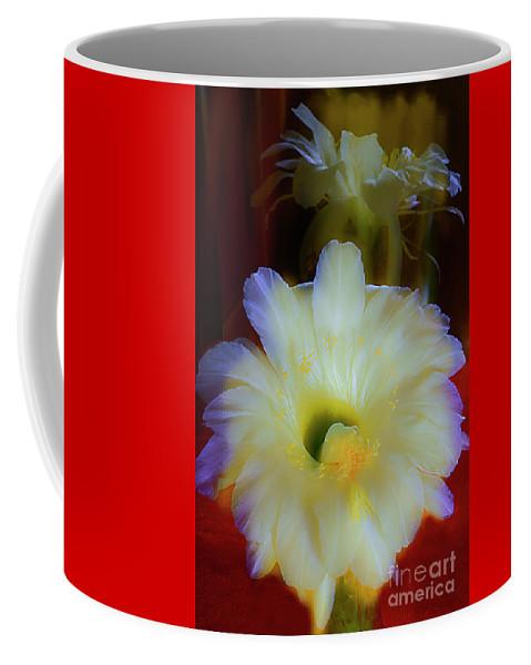 Floral Coffee Mug featuring the photograph Splendid Flower Of Cactus. by Alexander Vinogradov