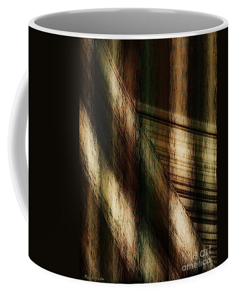 Plaid Coffee Mug featuring the painting Splinter And Fray by RC DeWinter