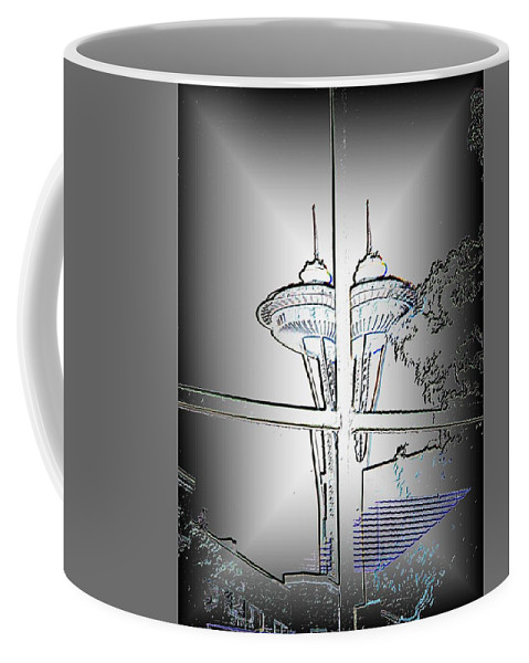 Seattle Coffee Mug featuring the photograph Split Decision by Tim Allen