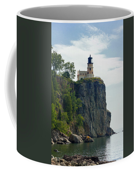 Duluth Coffee Mug featuring the photograph Split Rock Lightouse by Penny Meyers