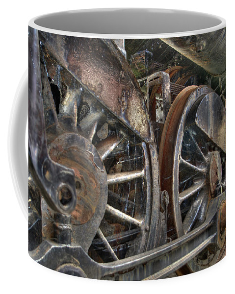 Hdr Coffee Mug featuring the photograph Spokes Of The Past by Scott Wyatt