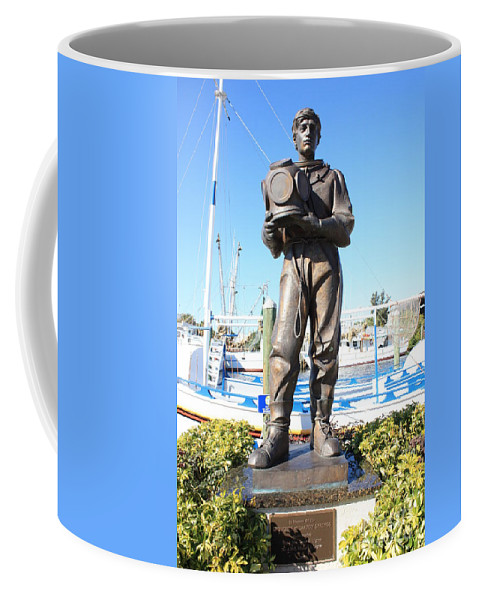 Tarpon Springs Coffee Mug featuring the photograph Sponge Diver Memorial by Carol Groenen