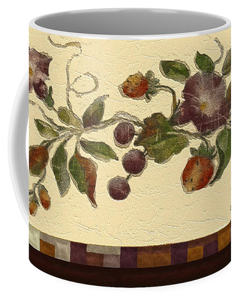 Decor Coffee Mug featuring the digital art Sponge-painted Plaster by RC DeWinter