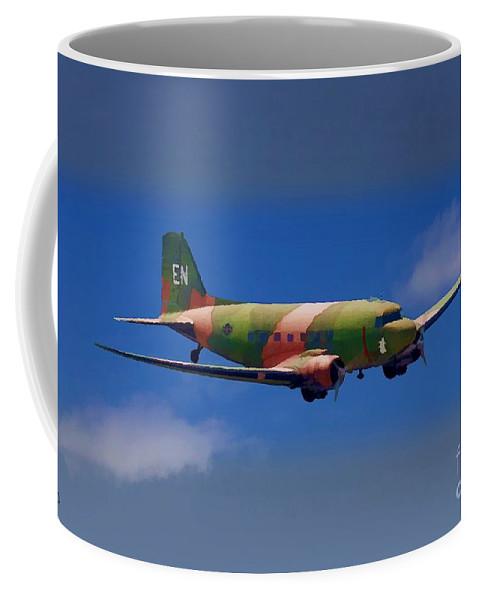 Douglas Coffee Mug featuring the digital art Spooky Douglas Ac-47 by Tommy Anderson