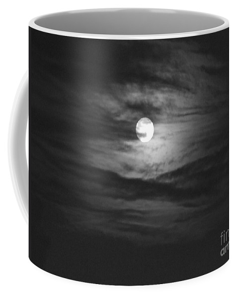 Black And White Coffee Mug featuring the photograph Spooky Moon 2 by Mary Deal
