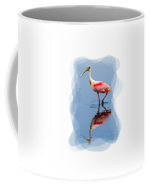 Animals Coffee Mug featuring the photograph Spoonbill 3 by John M Bailey