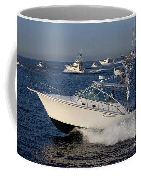 Fishing Coffee Mug featuring the photograph Sportfishing Boats - Cabo San Lucas by Anthony Totah