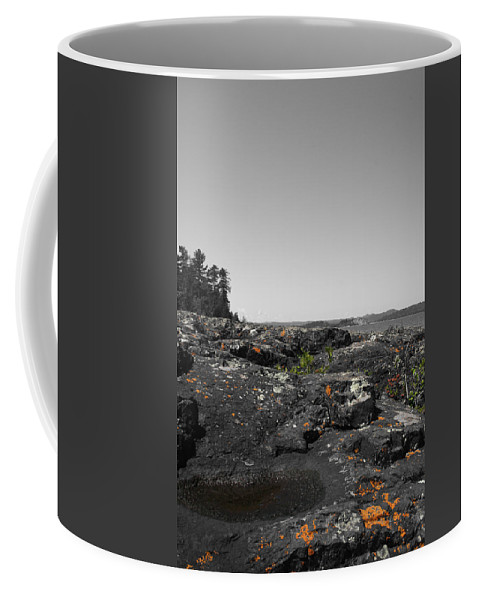 Landscape Coffee Mug featuring the photograph Spotted Rocks by Dylan Punke