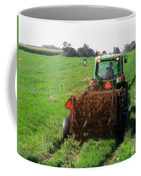 Mccombie Coffee Mug featuring the painting Spreading Manure by J McCombie