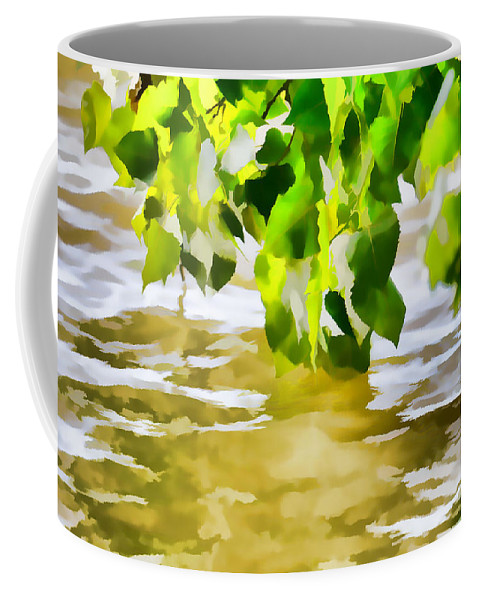 Summer Coffee Mug featuring the painting Spring 4 by Jeelan Clark