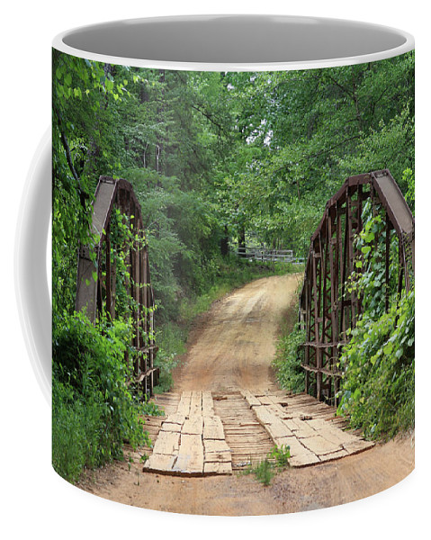 Bridges Coffee Mug featuring the photograph Spring At The Old Bridge by Kim Henderson