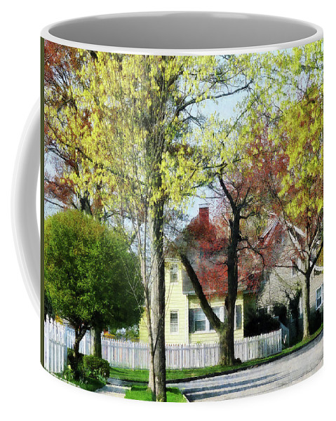 Spring Coffee Mug featuring the photograph Spring Begins In The Suburbs by Susan Savad