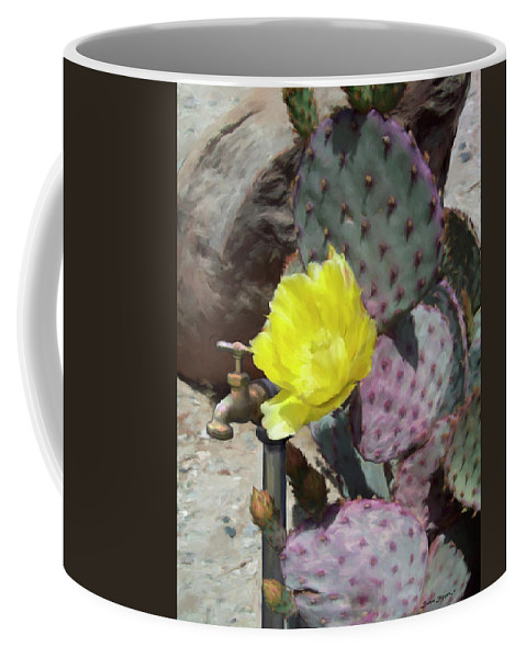 Cactus Coffee Mug featuring the digital art Spring Bloom by Snake Jagger