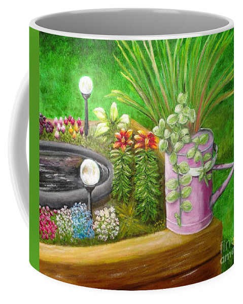 Flowers Coffee Mug featuring the painting Spring Blooms by Olga Silverman