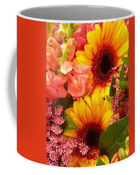 Roses Coffee Mug featuring the photograph Spring Bouquet 1 by Amy Vangsgard