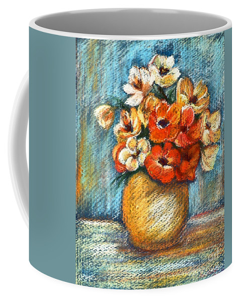 Stilllife Coffee Mug featuring the drawing Spring Bouquet by Portraits By NC