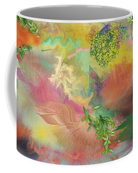 Painting Coffee Mug featuring the painting Spring Chaos by Scott Carlton
