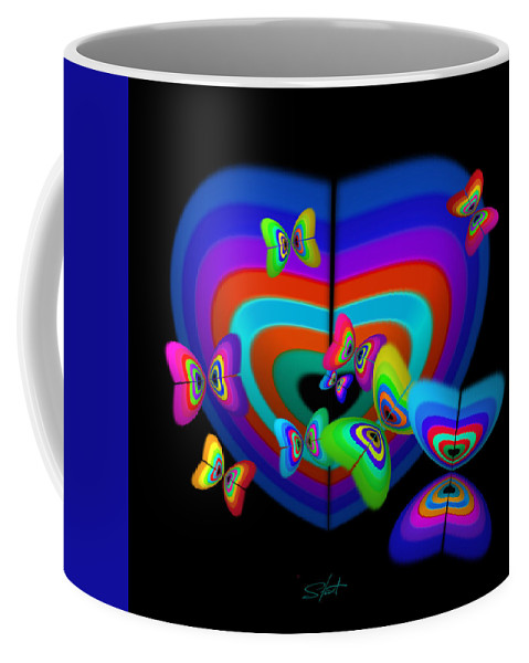 Coffee Mug featuring the digital art Spring by Charles Stuart