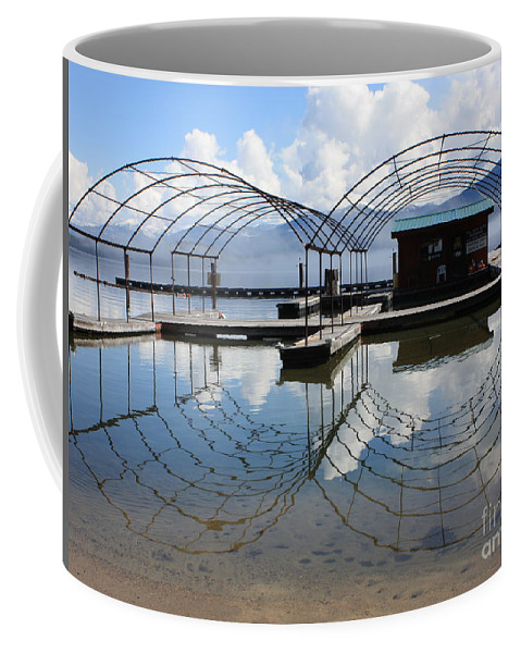 Spring Coffee Mug featuring the photograph Spring Docks On Priest Lake by Carol Groenen