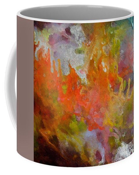Abstract Coffee Mug featuring the painting Spring by Dragica Micki Fortuna