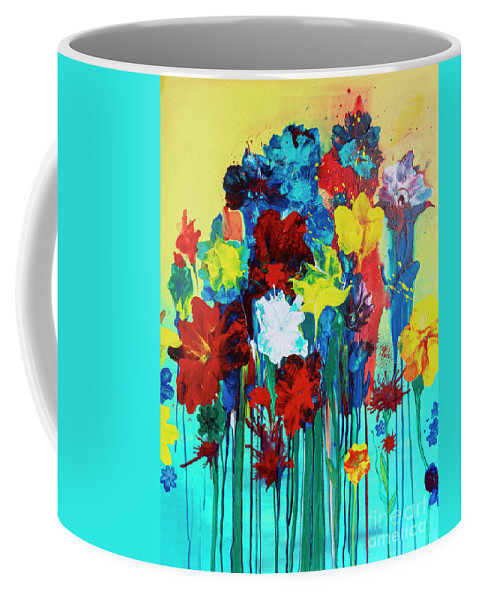 Flowers Coffee Mug featuring the painting Spring Fever 2 by Kim Morris