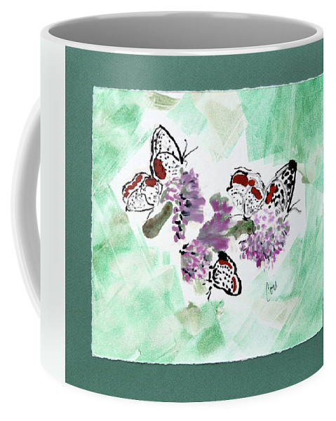 Spring Coffee Mug featuring the mixed media Spring Fever by Cori Solomon