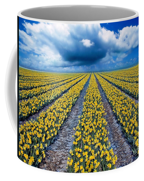 Flowers Coffee Mug featuring the photograph Spring Fields by Jacky Gerritsen