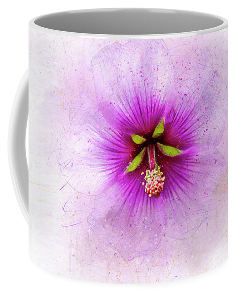 Flower Coffee Mug featuring the mixed media Spring Flower Frill by Terry Davis