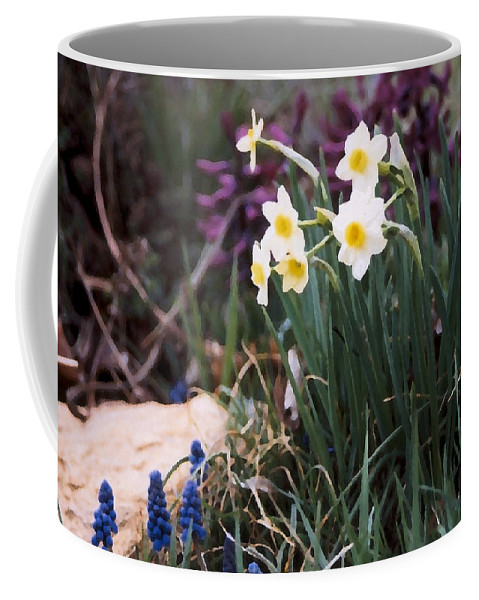 Flowers Coffee Mug featuring the photograph Spring Garden by Steve Karol
