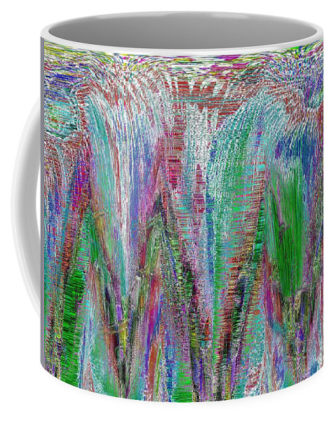 Abstract Coffee Mug featuring the digital art Spring Has Sprung by Tim Allen