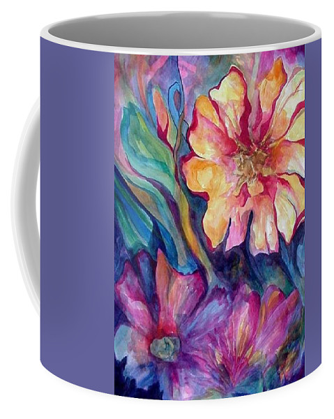 Spring Coffee Mug featuring the painting Spring In My heart by Carolyn LeGrand