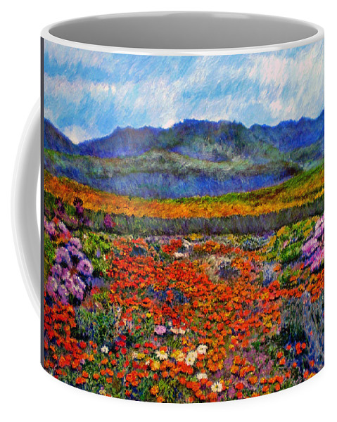 Spring Coffee Mug featuring the painting Spring In Namaqualand by Michael Durst