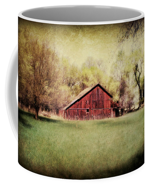 Barn Coffee Mug featuring the photograph Spring In Nebraska by Julie Hamilton