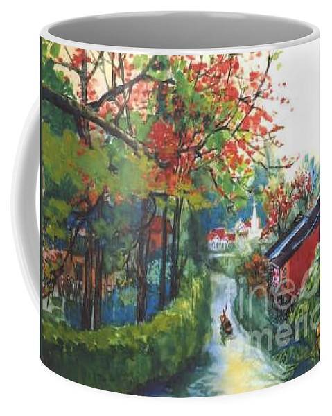 Spring Coffee Mug featuring the painting Spring In Southern China by Guanyu Shi