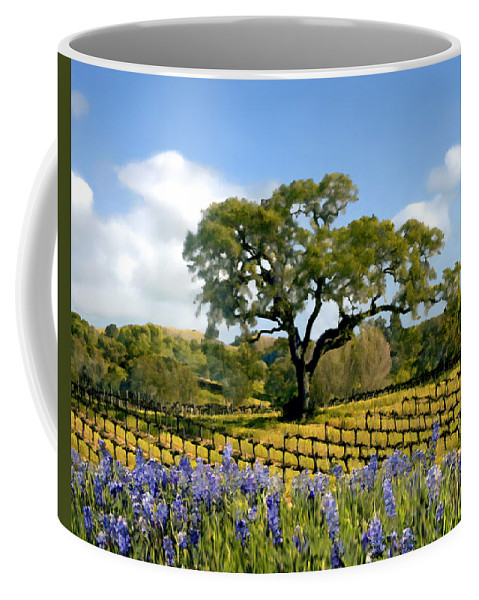 Vineyards Coffee Mug featuring the photograph Spring In The Vineyard by Kurt Van Wagner