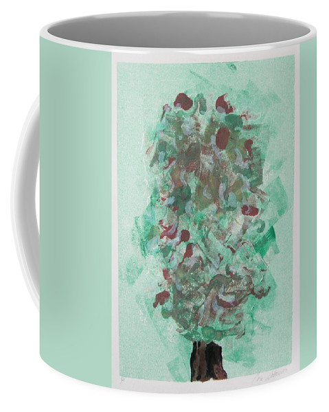 Monoprint Coffee Mug featuring the mixed media Spring Interlude by Cori Solomon