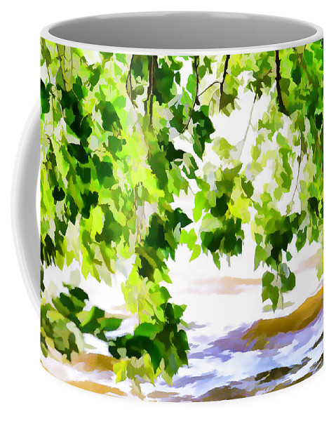 Summer Coffee Mug featuring the painting Spring by Jeelan Clark