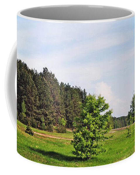 Landscape Coffee Mug featuring the photograph Spring Meadow by Vadzim Kandratsenkau