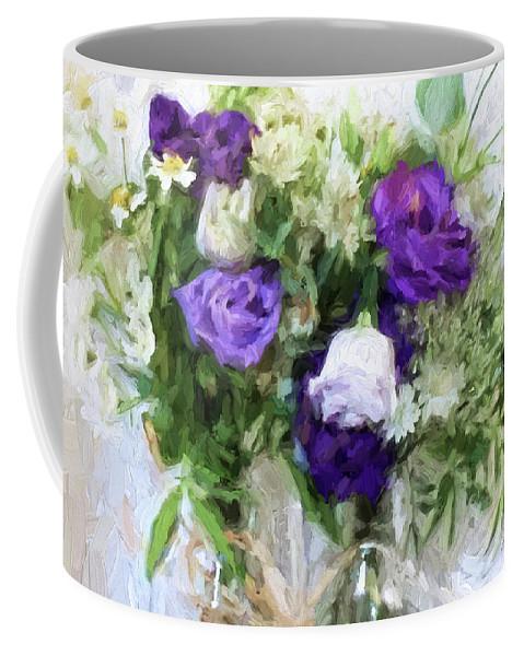 Flowers Coffee Mug featuring the digital art Spring Passion by Sarah Vernon