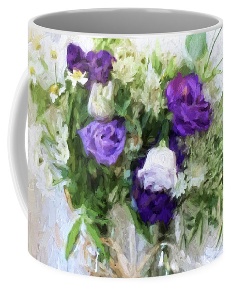 Flowers Coffee Mug featuring the digital art Spring Passion by Sarah Vernon