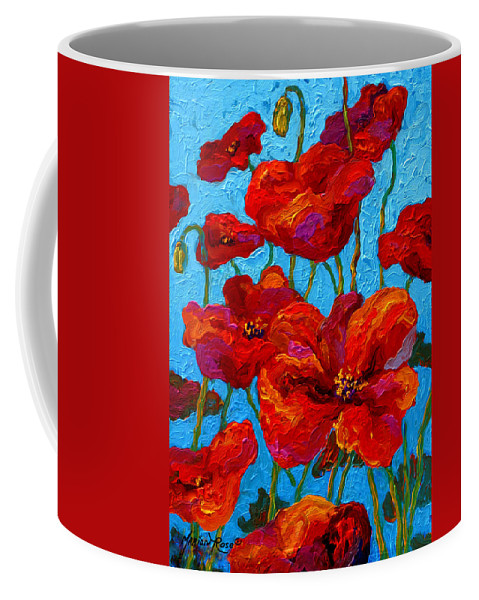 Poppies Coffee Mug featuring the painting Spring Poppies by Marion Rose