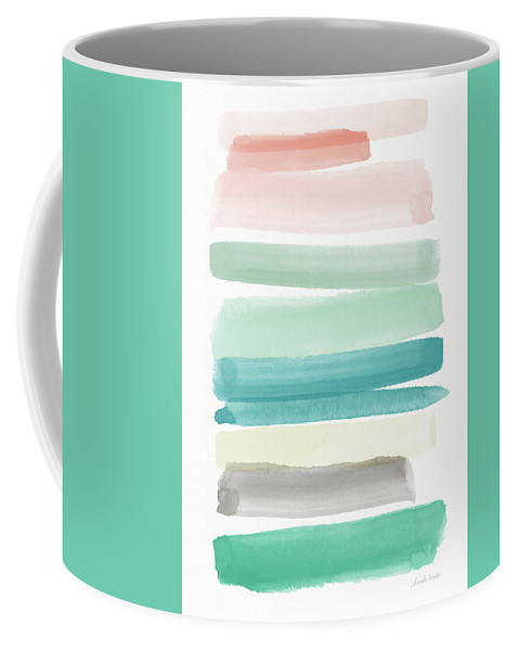 Abstract Coffee Mug featuring the painting Spring Sky- Art By Linda Woods by Linda Woods