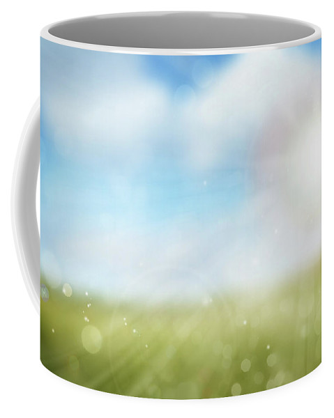 Nobody Coffee Mug featuring the digital art Spring Sunlight 1 by Les Cunliffe
