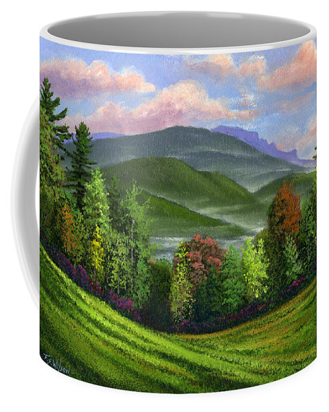 Landscape Coffee Mug featuring the painting Spring Time by Frank Wilson