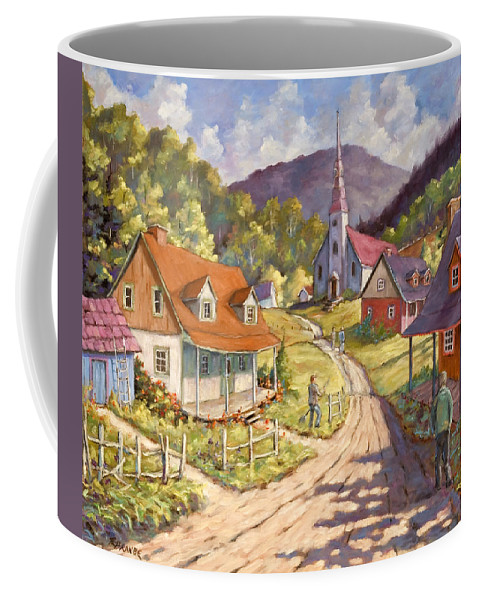 Art Coffee Mug featuring the painting Spring Time Sun by Richard T Pranke