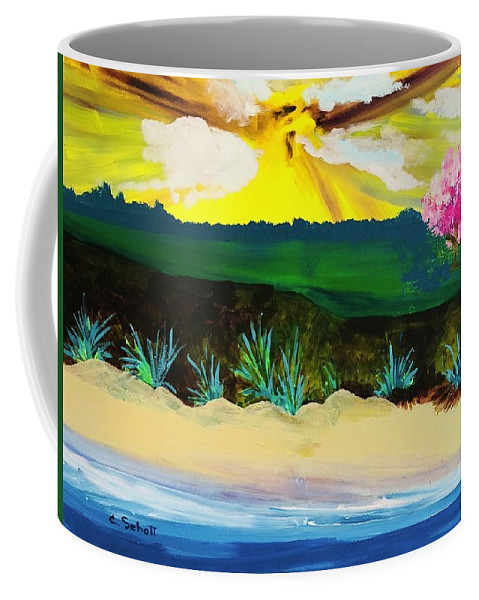 Farm Land Coffee Mug featuring the painting Spring Trip In Delaware by Christina Schott
