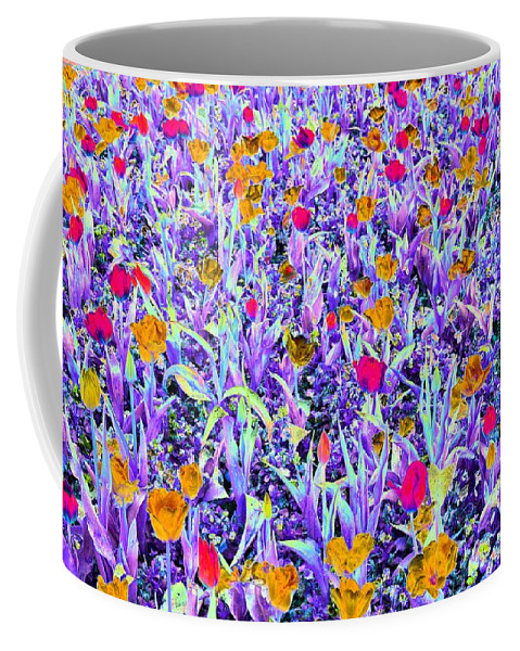 Tulip Coffee Mug featuring the photograph Spring Tulips - Photopower 3124 by Pamela Critchlow