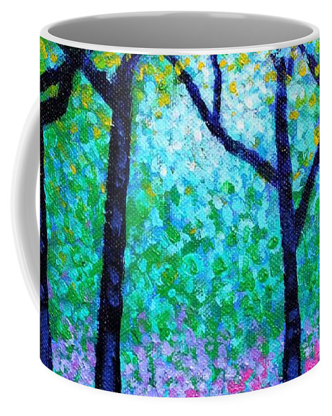 Landscape Coffee Mug featuring the painting Spring Woodland by John Nolan