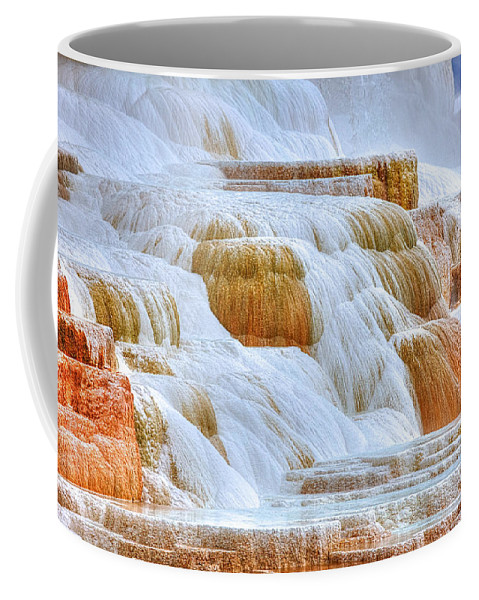 Mammoth Hot Springs Coffee Mug featuring the photograph Springs Alive by James Anderson