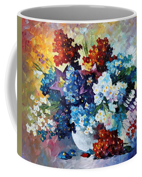 Afremov Coffee Mug featuring the painting Spring's Smile by Leonid Afremov